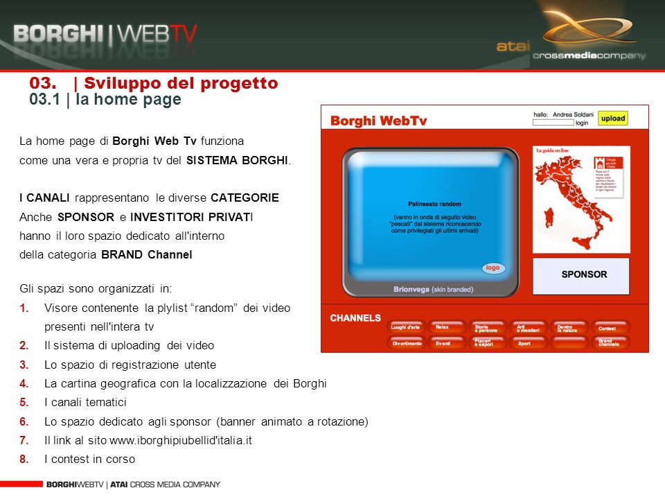 03. | Sviluppo del progetto 03.1 | la home page