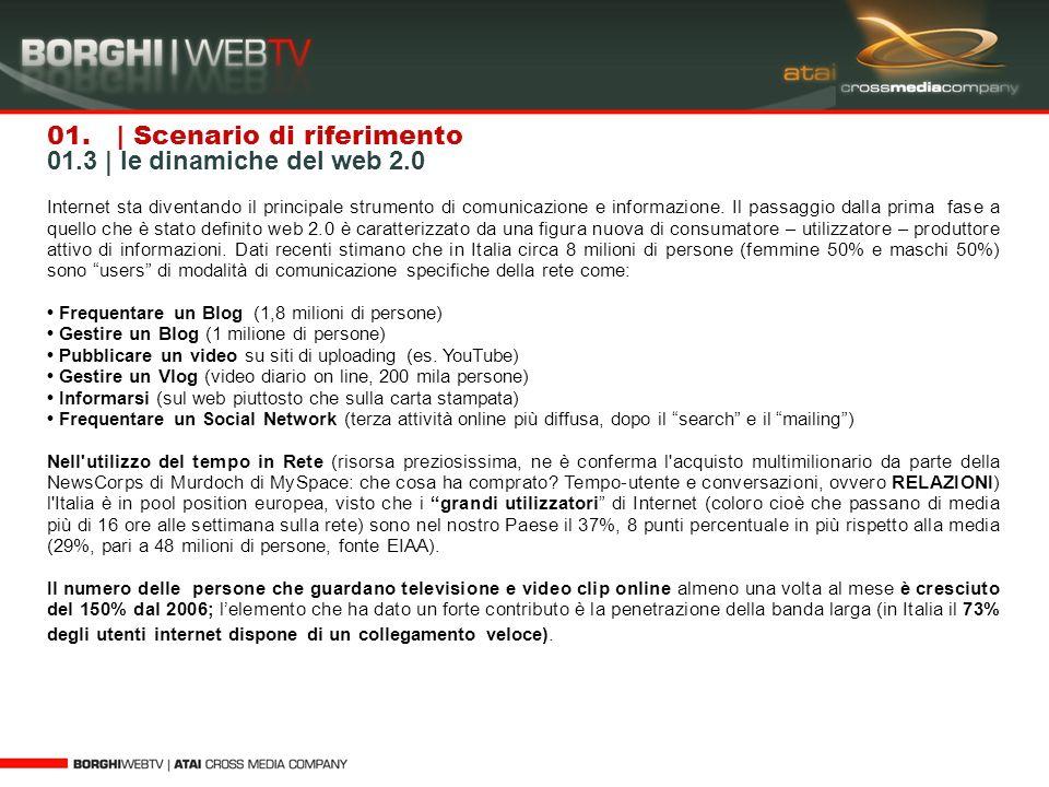 01. | Scenario di riferimento 01.3 | le dinamiche del web 2.0