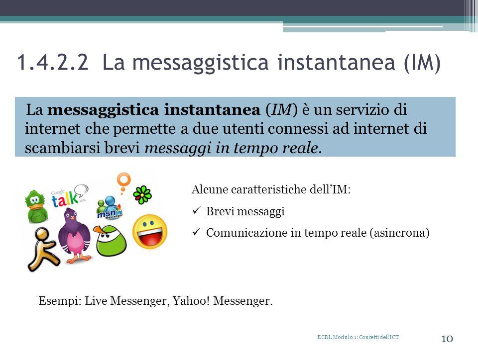 1.4.2.2 La messaggistica instantanea (IM)