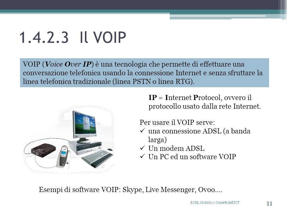 1.4.2.3 Il VOIP