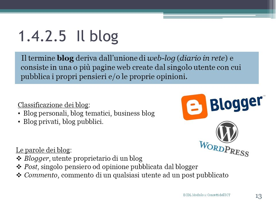 1.4.2.5 Il blog