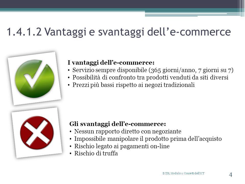 1.4.1.2 Vantaggi e svantaggi dell'e-commerce