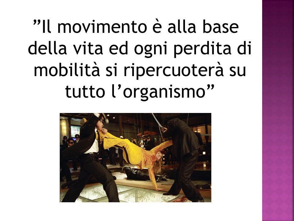 Il movimento è alla base della vita ed ogni perdita di mobilità si ripercuoterà su tutto l'organismo
