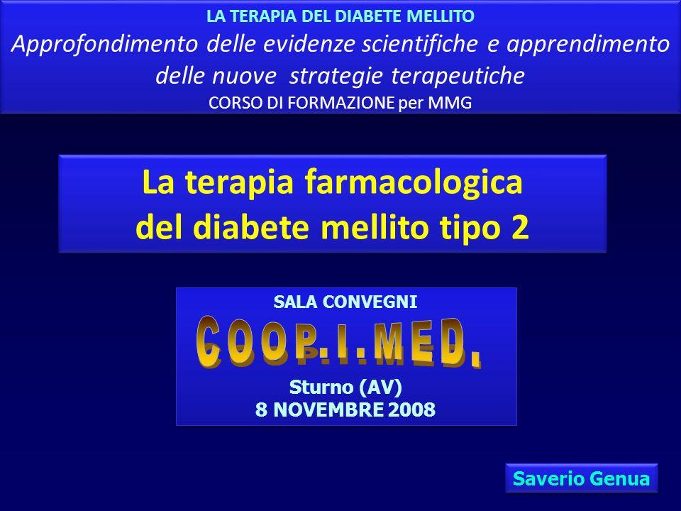La terapia farmacologica del diabete mellito tipo 2