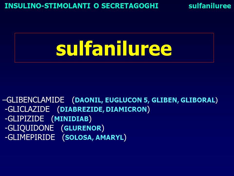 sulfaniluree –GLIBENCLAMIDE (DAONIL, EUGLUCON 5, GLIBEN, GLIBORAL)