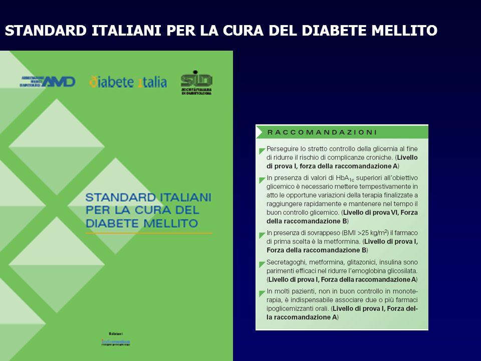 STANDARD ITALIANI PER LA CURA DEL DIABETE MELLITO