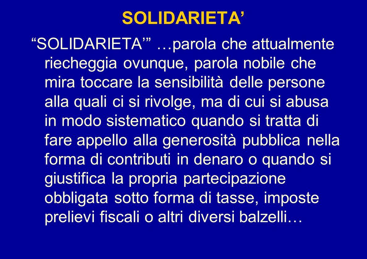 SOLIDARIETA'