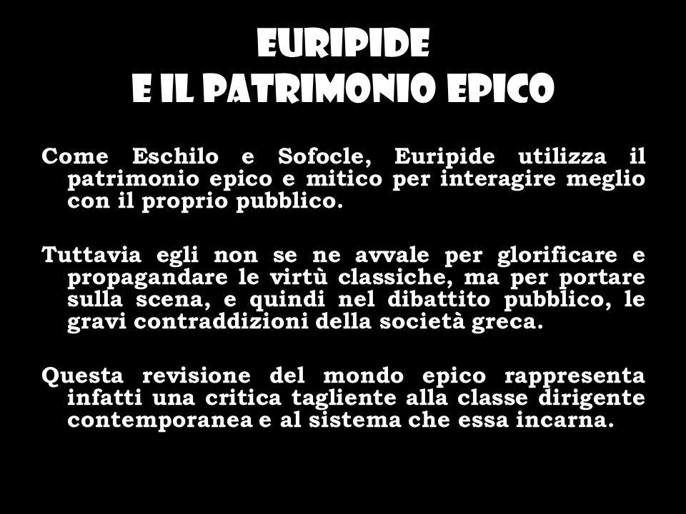 Euripide e il patrimonio epico