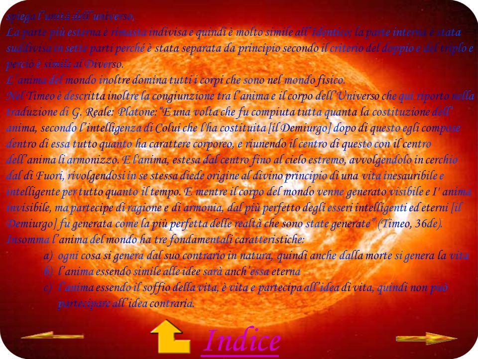 Indice spiega l'unità dell'universo.
