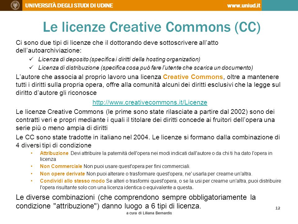 Le licenze Creative Commons (CC)