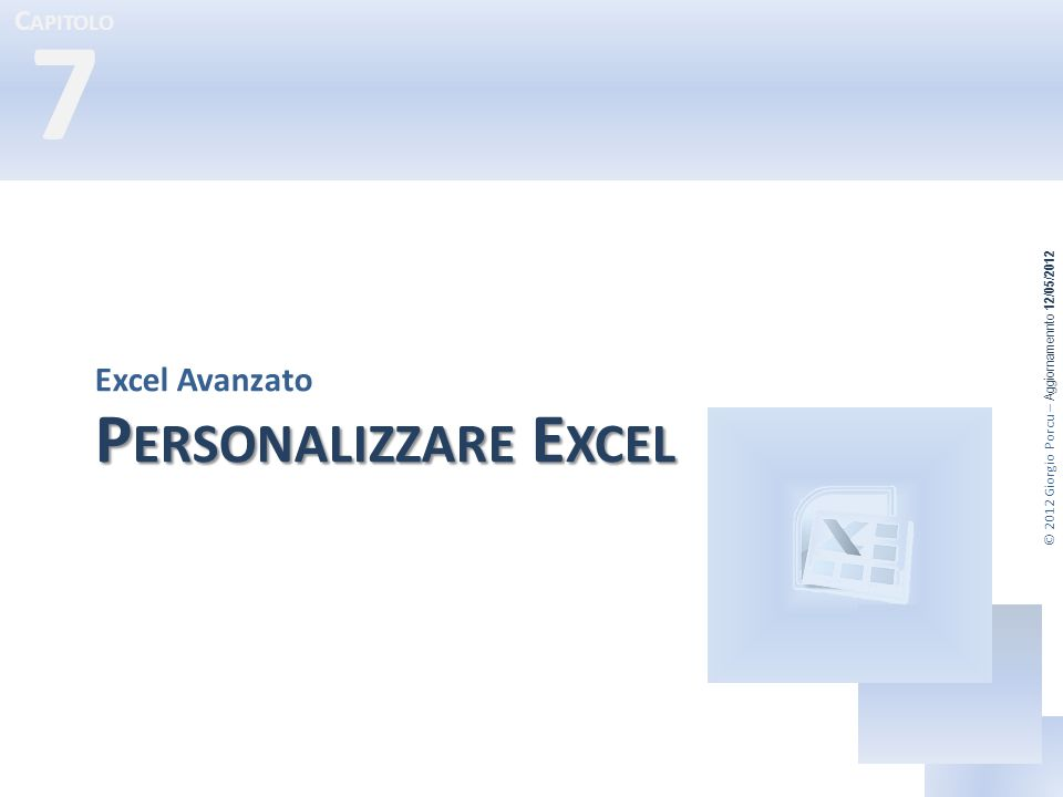 Excel Avanzato Personalizzare Excel