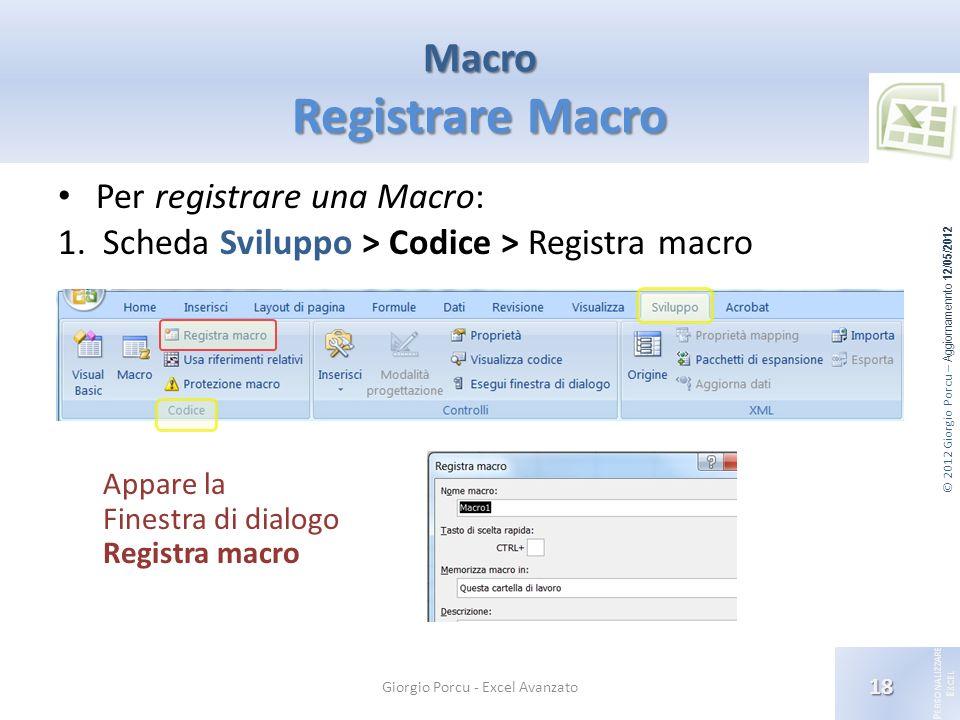 Macro Registrare Macro