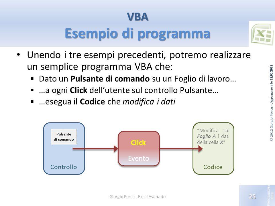 VBA Esempio di programma