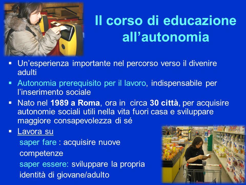 Il corso di educazione all'autonomia