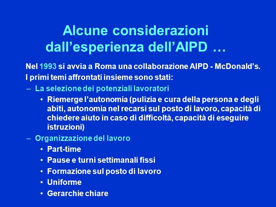 Alcune considerazioni dall'esperienza dell'AIPD …