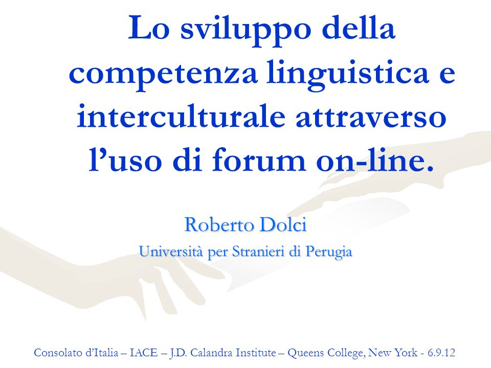 Roberto Dolci Università per Stranieri di Perugia