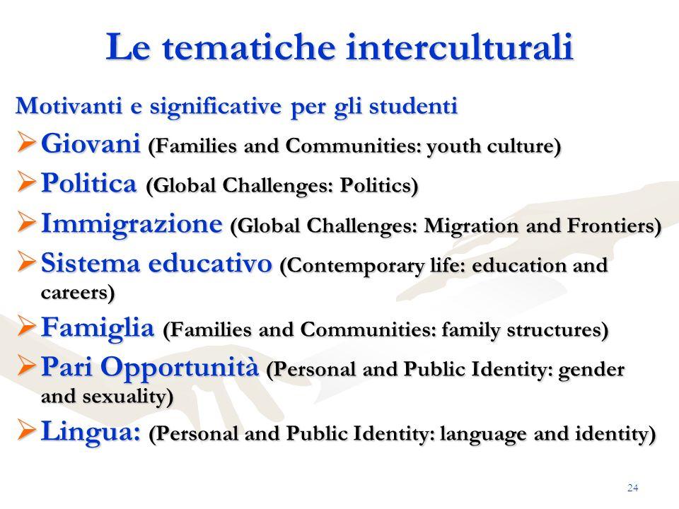 Le tematiche interculturali