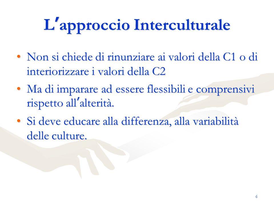 L'approccio Interculturale