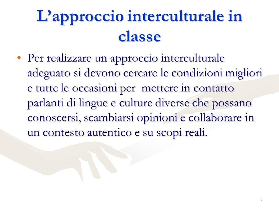 L'approccio interculturale in classe