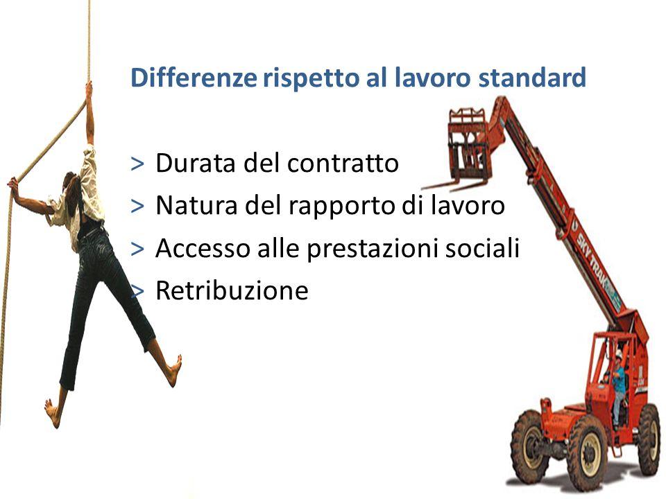 Differenze rispetto al lavoro standard