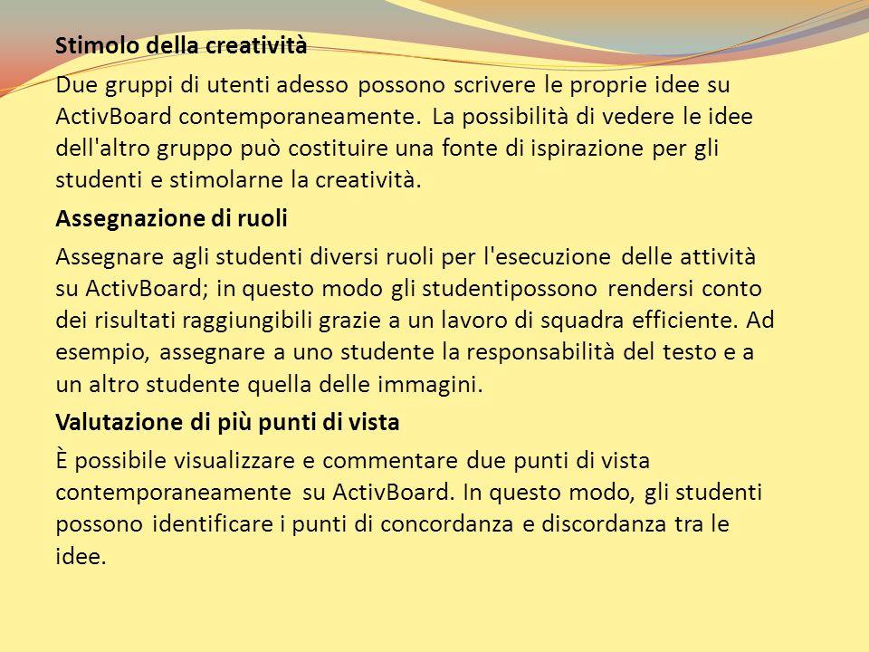 Stimolo della creatività