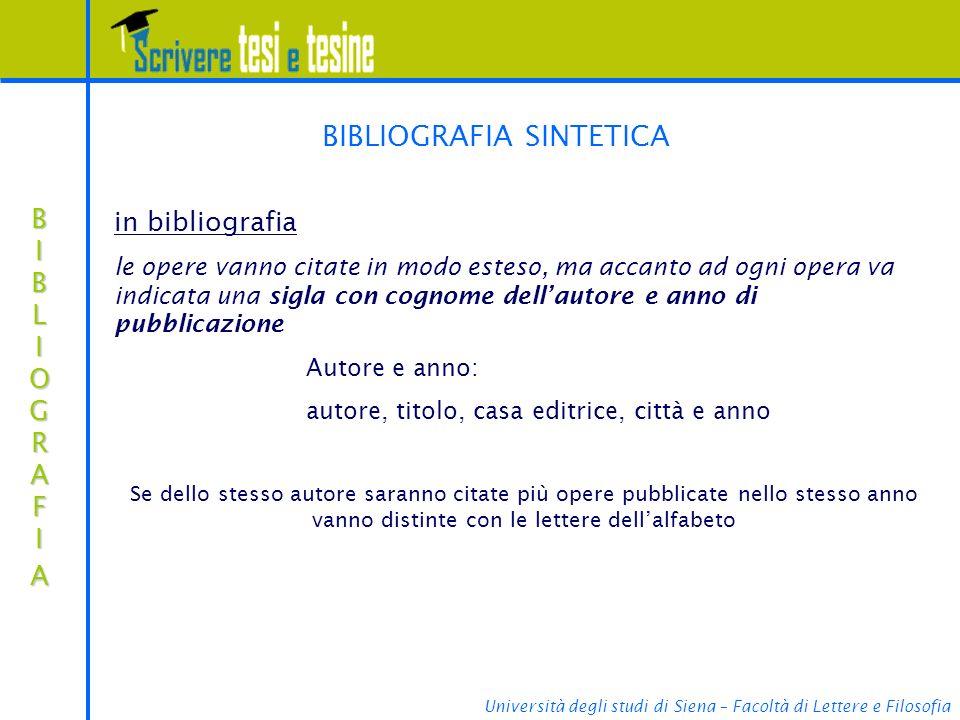 BIBLIOGRAFIA SINTETICA