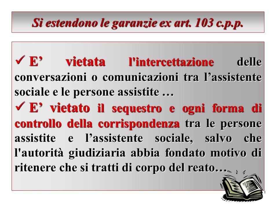 Si estendono le garanzie ex art. 103 c.p.p.