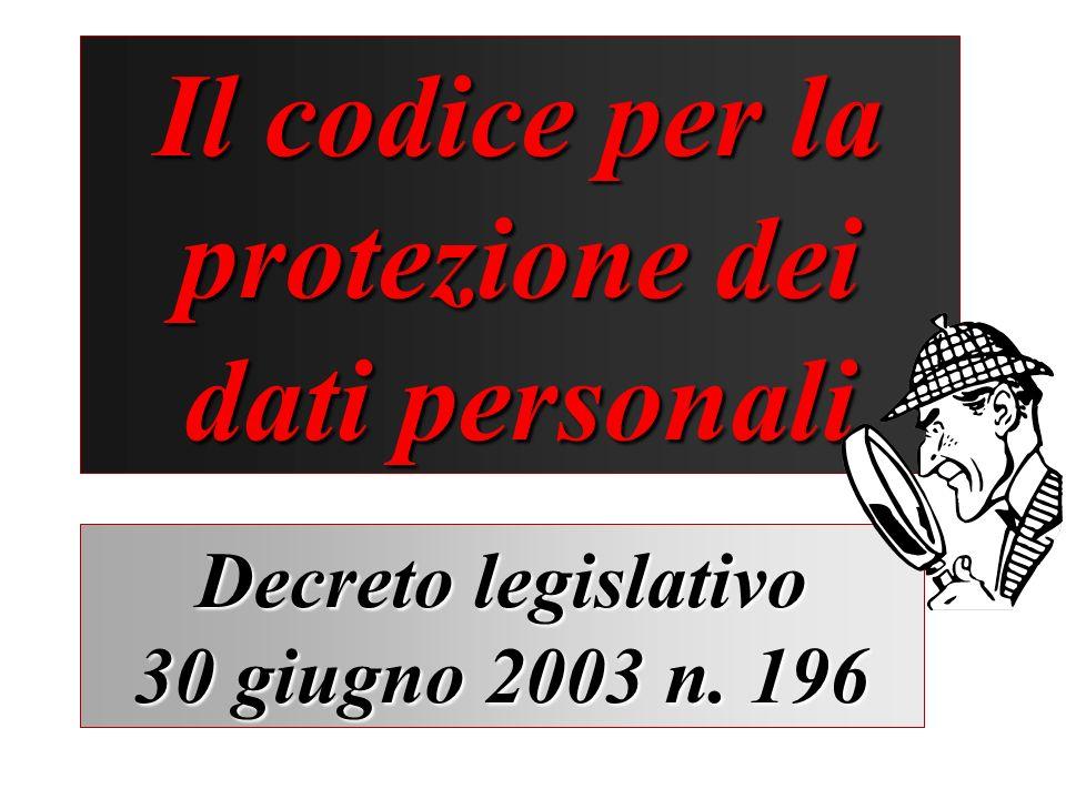 Il codice per la protezione dei dati personali