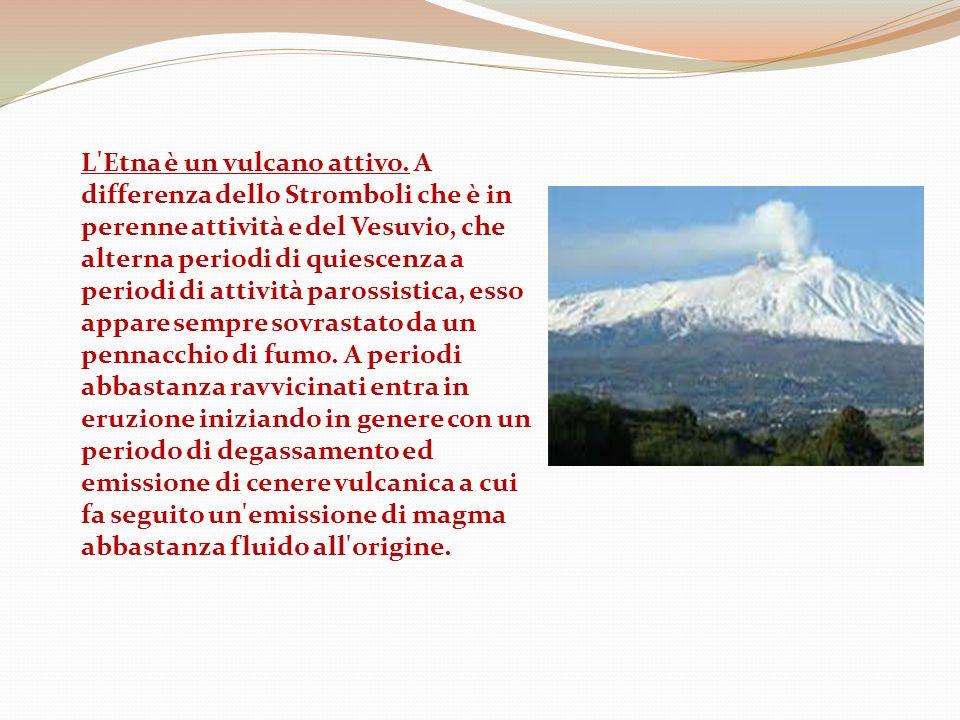 L Etna è un vulcano attivo