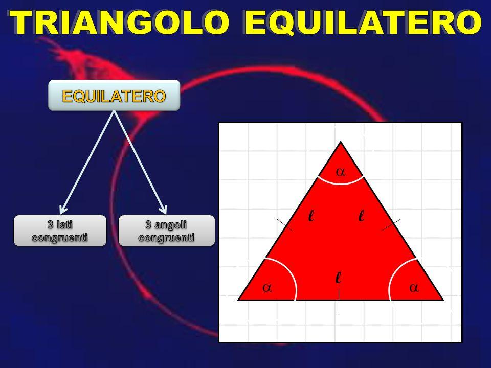 TRIANGOLO EQUILATERO EQUILATERO a l l l a a 3 lati congruenti