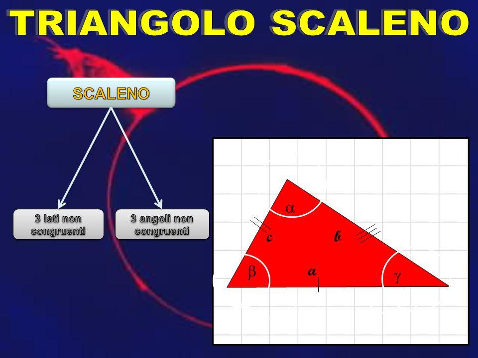 TRIANGOLO SCALENO SCALENO a c b b a g 3 lati non congruenti