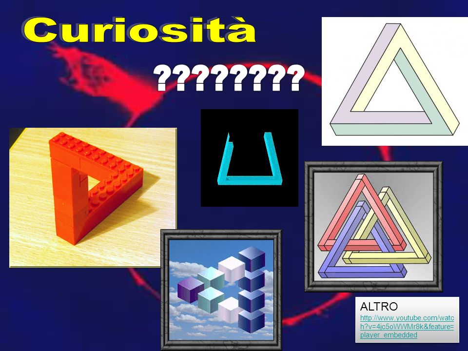 Curiosità ALTRO http://www.youtube.com/watch v=4jc5oWWMr8k&feature=player_embedded