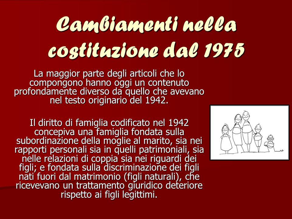 Cambiamenti nella costituzione dal 1975