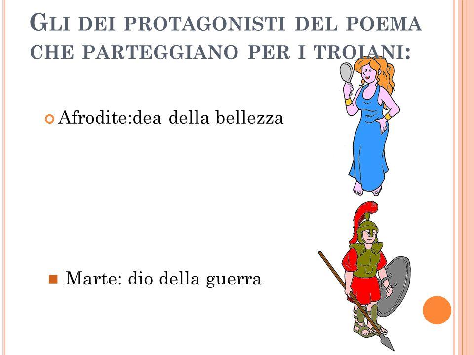 Gli dei protagonisti del poema che parteggiano per i troiani: