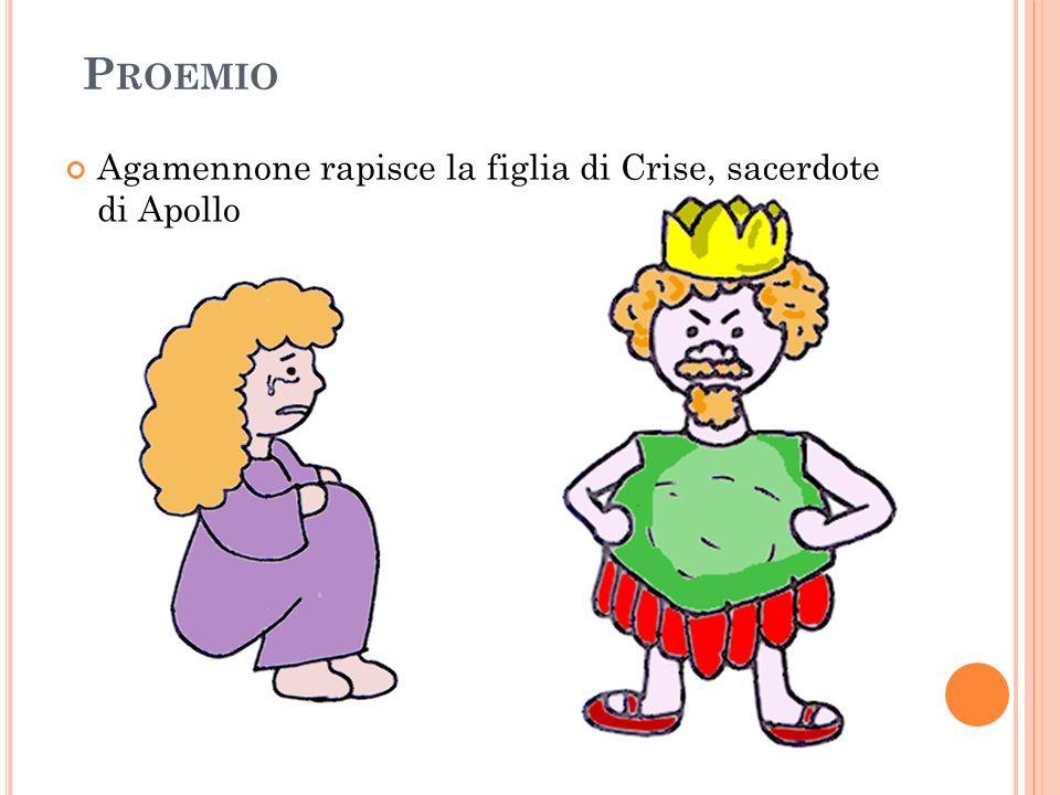 Proemio Agamennone rapisce la figlia di Crise, sacerdote di Apollo