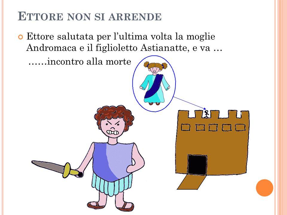 Ettore non si arrendeEttore salutata per l'ultima volta la moglie Andromaca e il figlioletto Astianatte, e va …