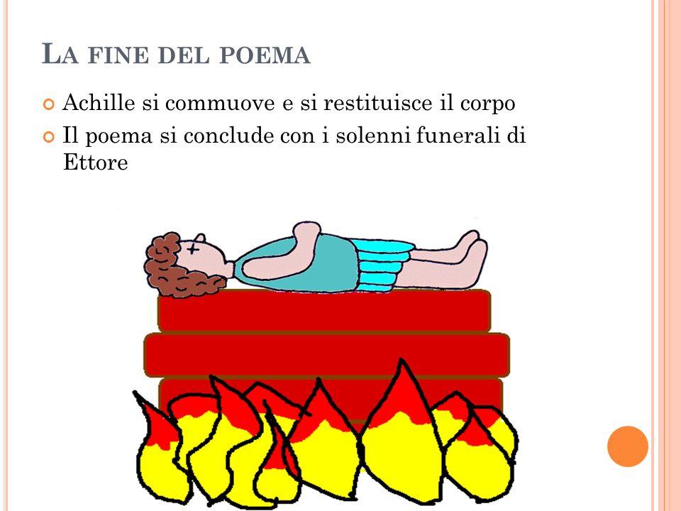 La fine del poema Achille si commuove e si restituisce il corpo