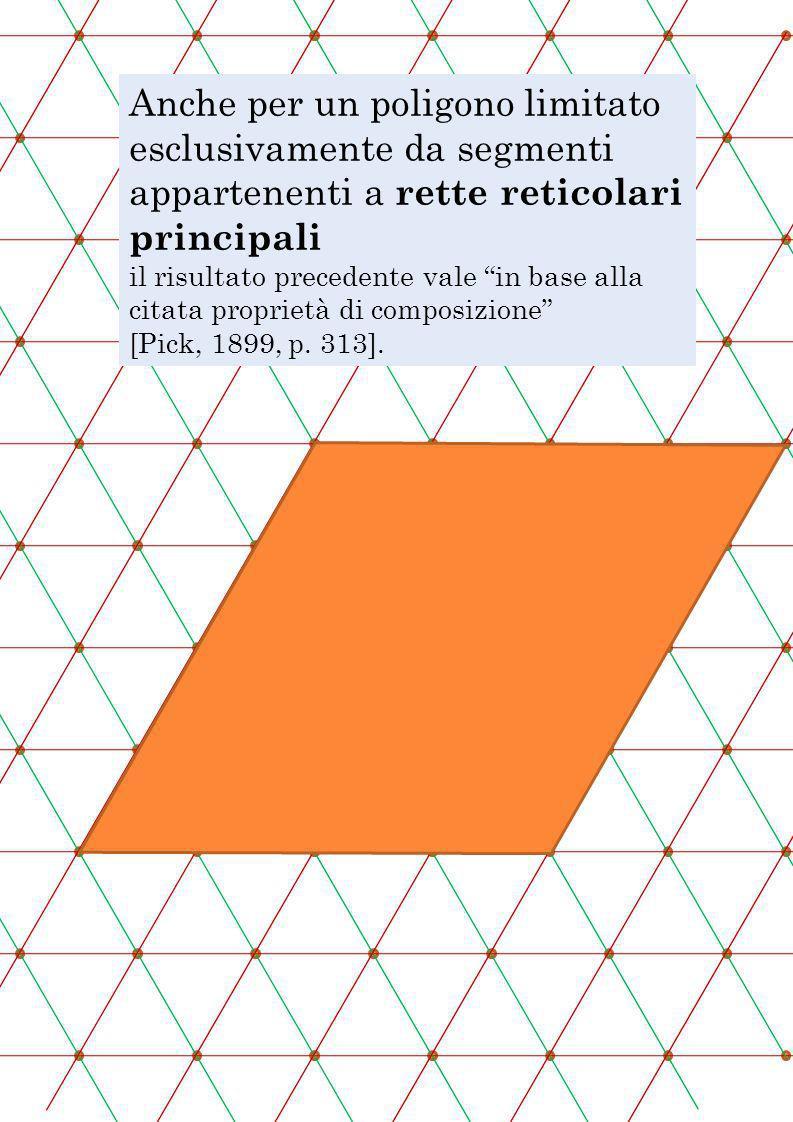 Anche per un poligono limitato esclusivamente da segmenti appartenenti a rette reticolari principali