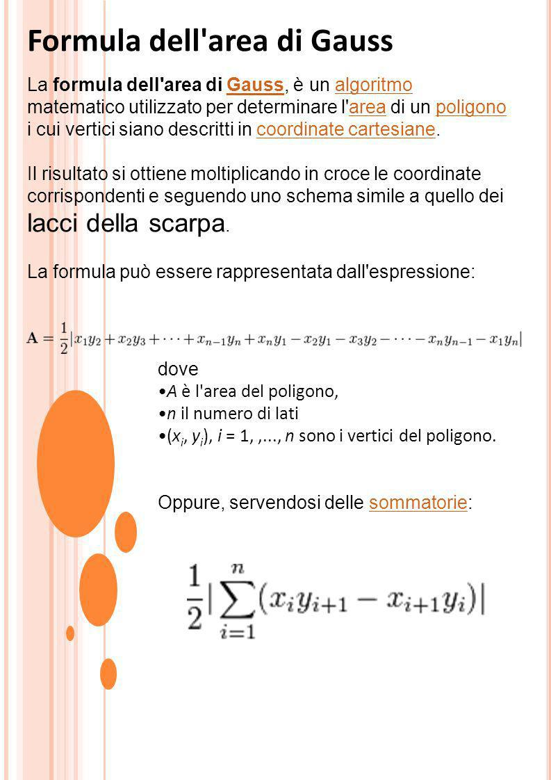 Formula dell area di Gauss