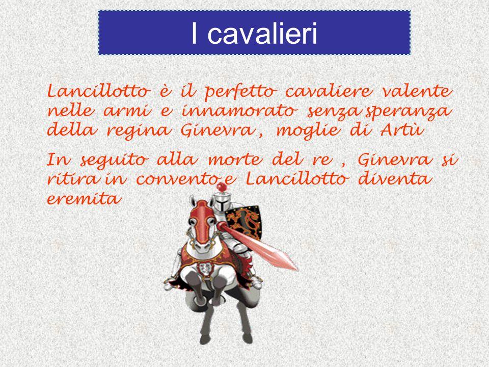 I cavalieri Lancillotto è il perfetto cavaliere valente nelle armi e innamorato senza speranza della regina Ginevra , moglie di Artù.