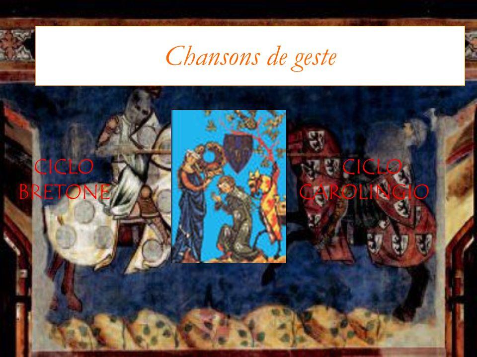 Chansons de geste CICLO BRETONE CICLO CAROLINGIO