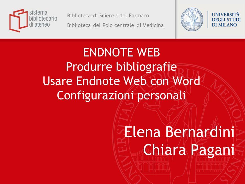 Elena Bernardini Chiara Pagani