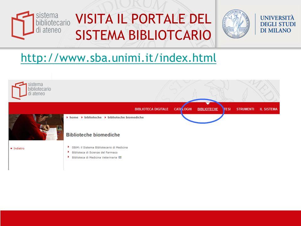 VISITA IL PORTALE DEL SISTEMA BIBLIOTCARIO