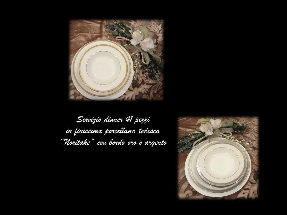 in finissima porcellana tedesca Noritake con bordo oro o argento