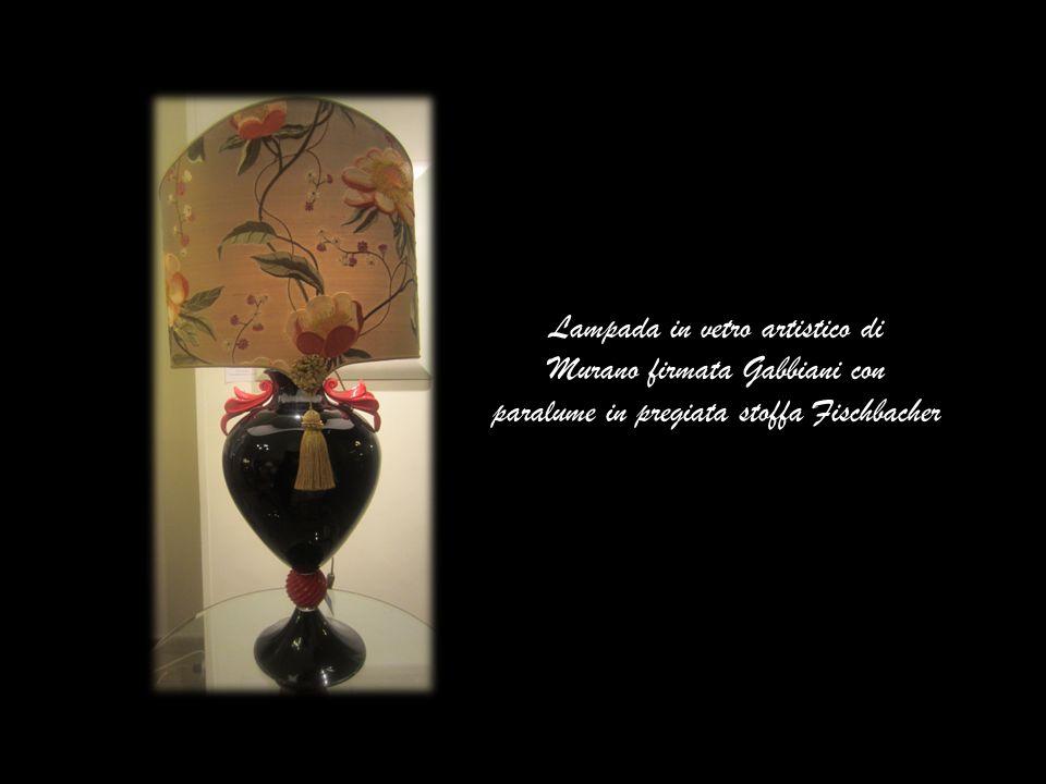 Lampada in vetro artistico di Murano firmata Gabbiani con