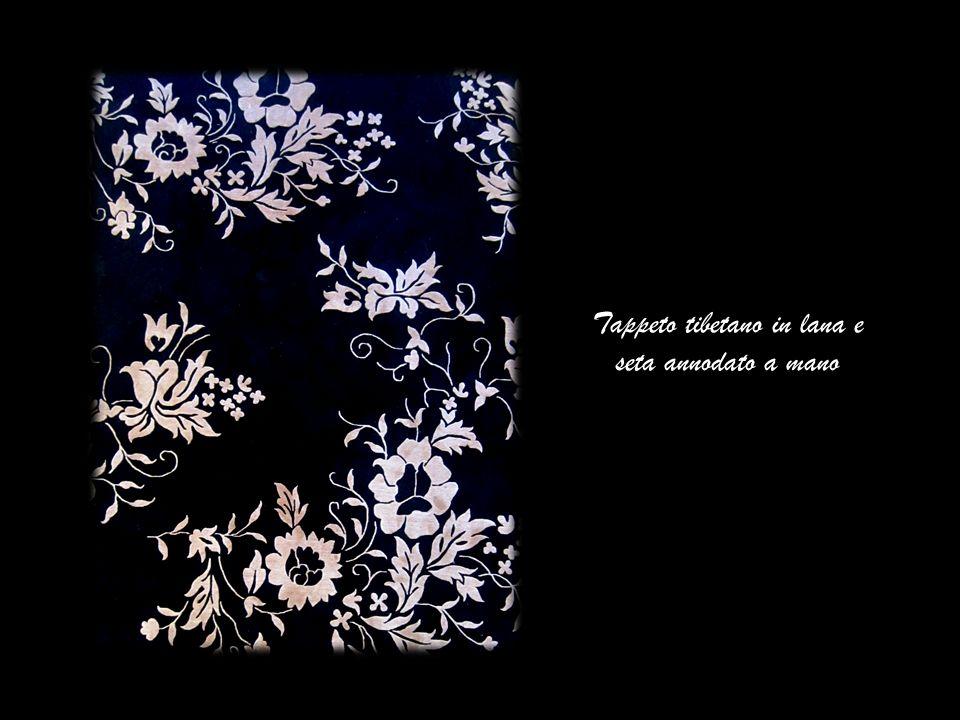 Tappeto tibetano in lana e