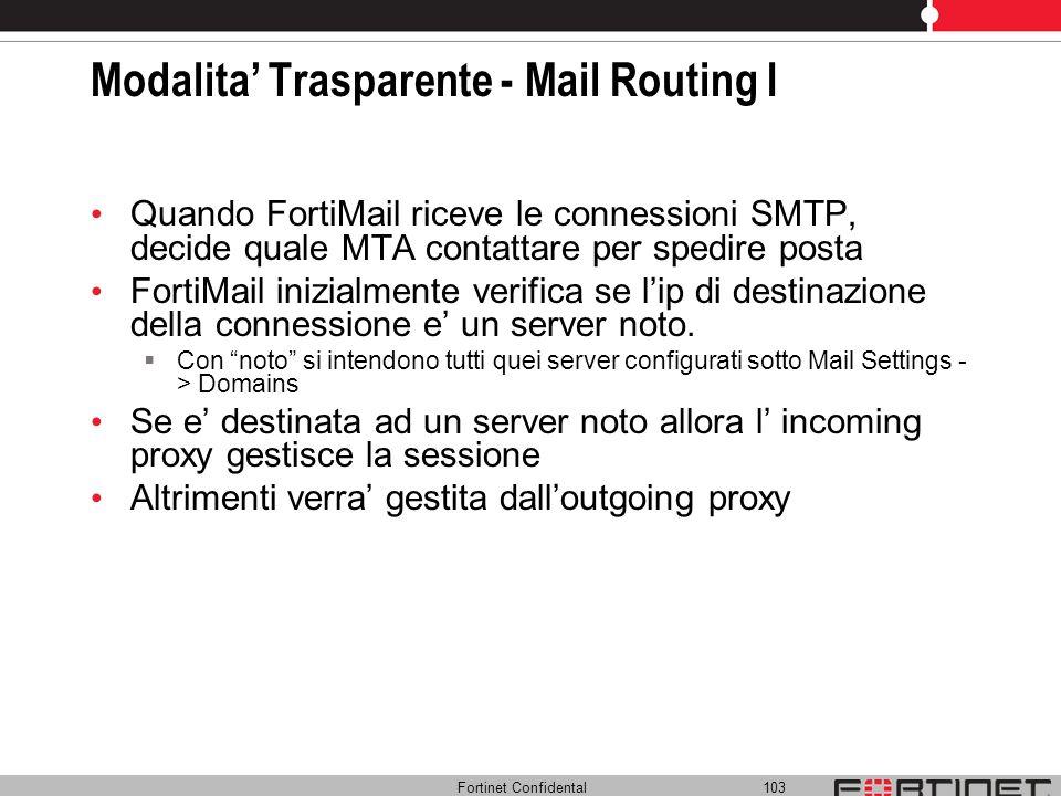 Modalita' Trasparente - Mail Routing I