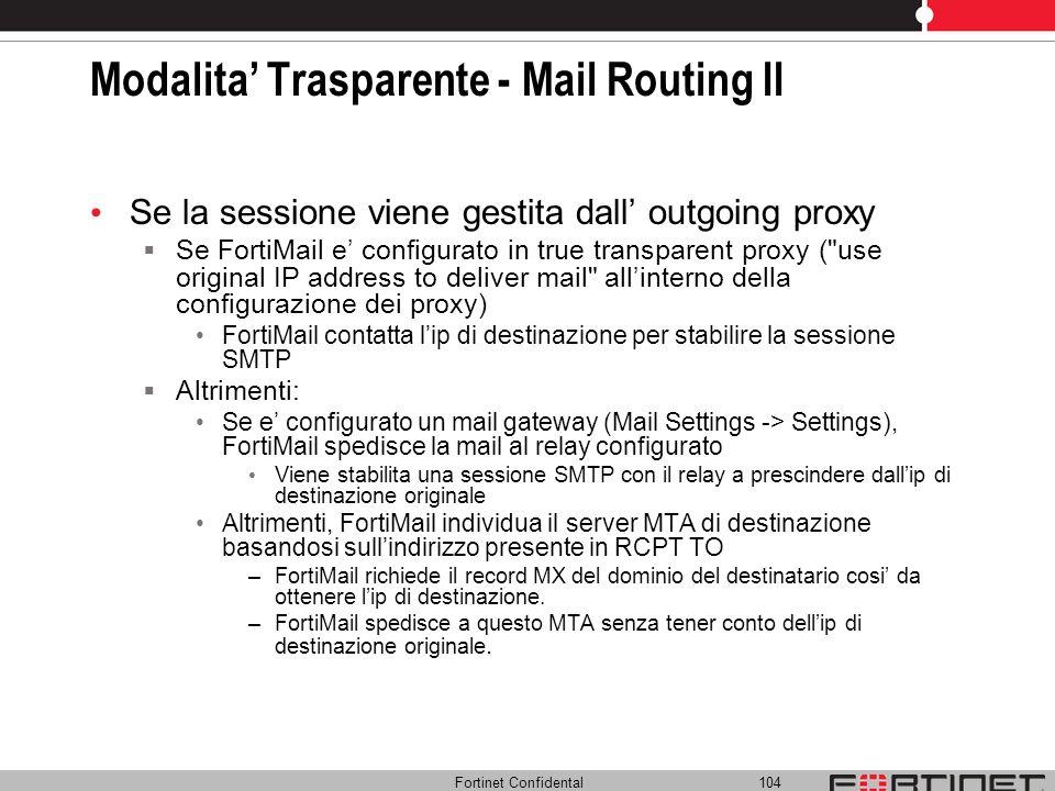Modalita' Trasparente - Mail Routing II