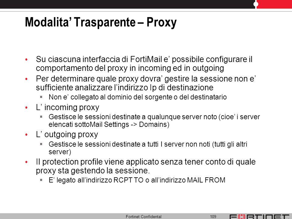Modalita' Trasparente – Proxy
