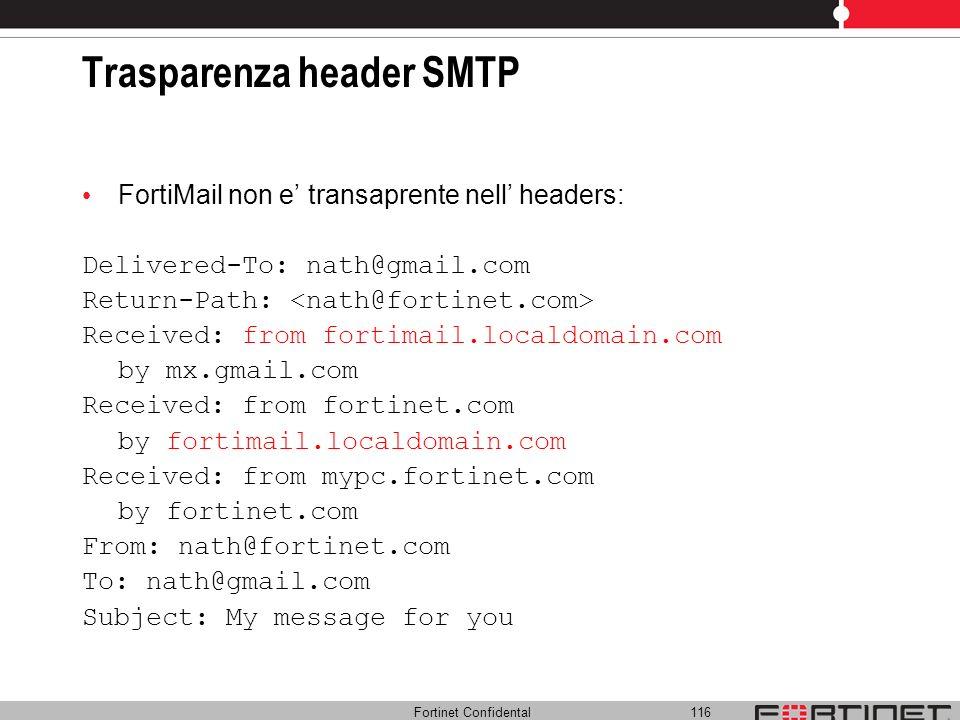 Trasparenza header SMTP